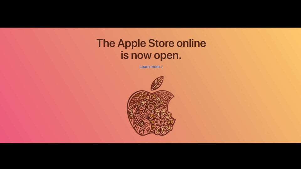 Apple Online Store Opens in India