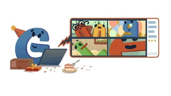Google's 22nd birthday Doodle