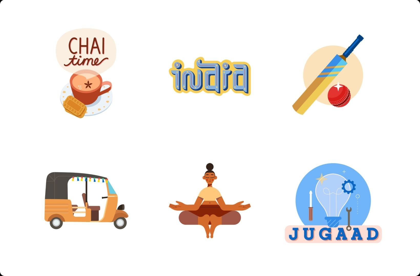 LinkedIn offers six stickers custom made for India