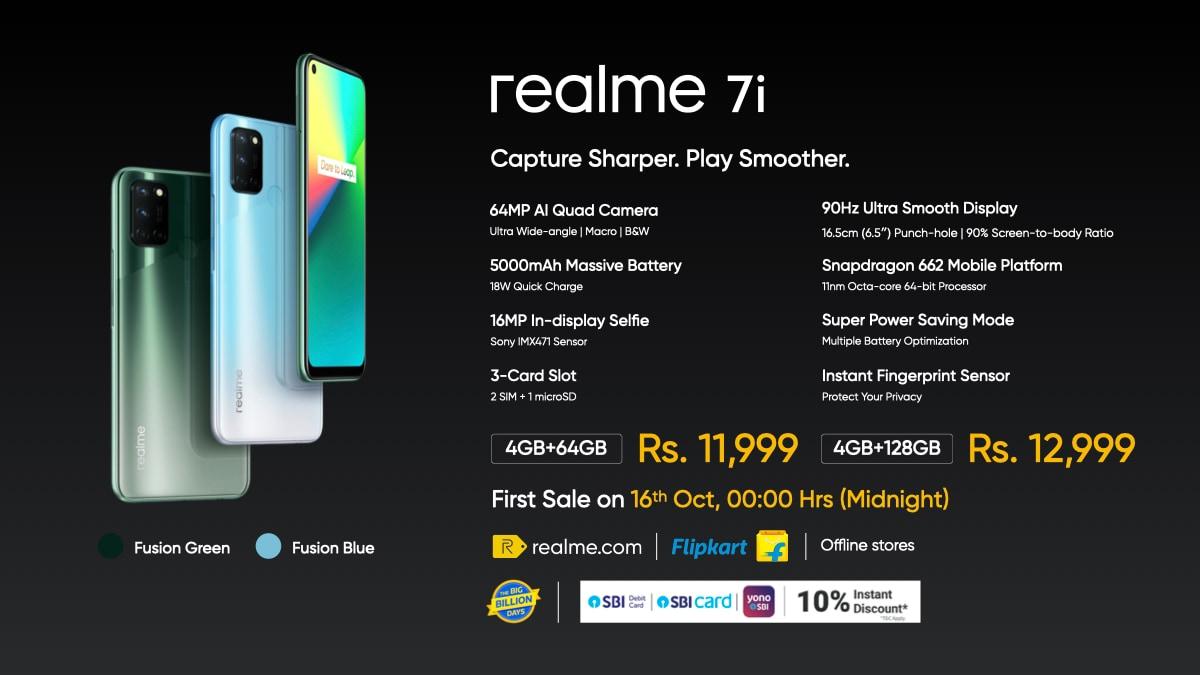The Realme 7i.