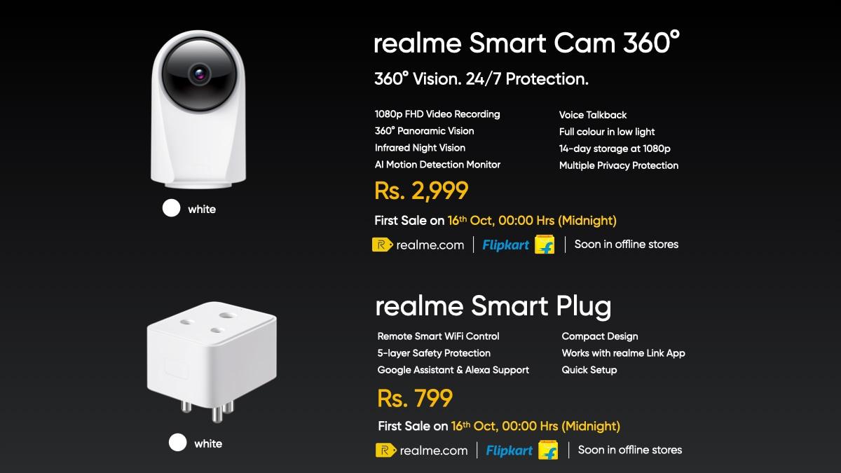 Realme 360° Smart Cam and Realme Smart Plug