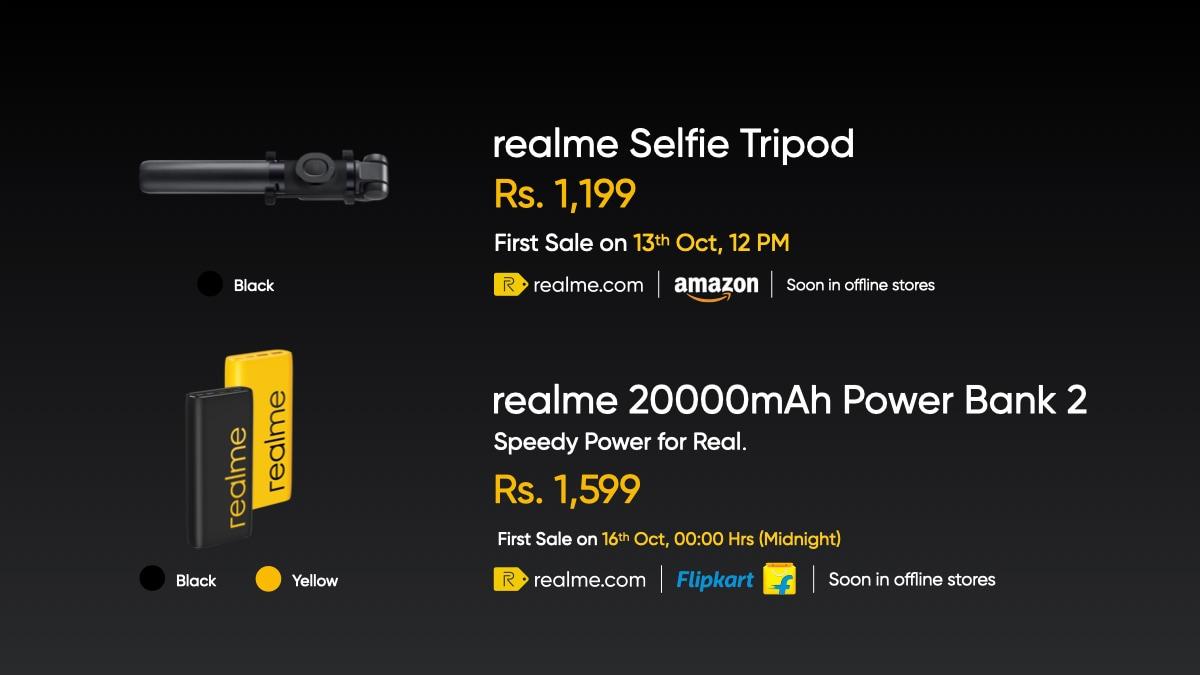 Realme Selfie Tripod and the Realme 20,000mAh Power Bank 2
