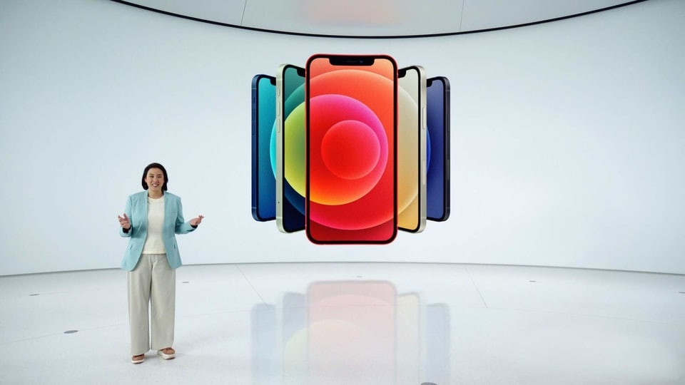 In this screen grab released by Apple, Apple's vice president of iPhone Product Marketing Kaiann Drance unveils the new iPhone 12 during an Apple event at Apple Park in Cupertino, California on October 13, 2020. (Photo by Apple Inc. / Apple Inc. / AFP) / RESTRICTED TO EDITORIAL USE - MANDATORY CREDIT