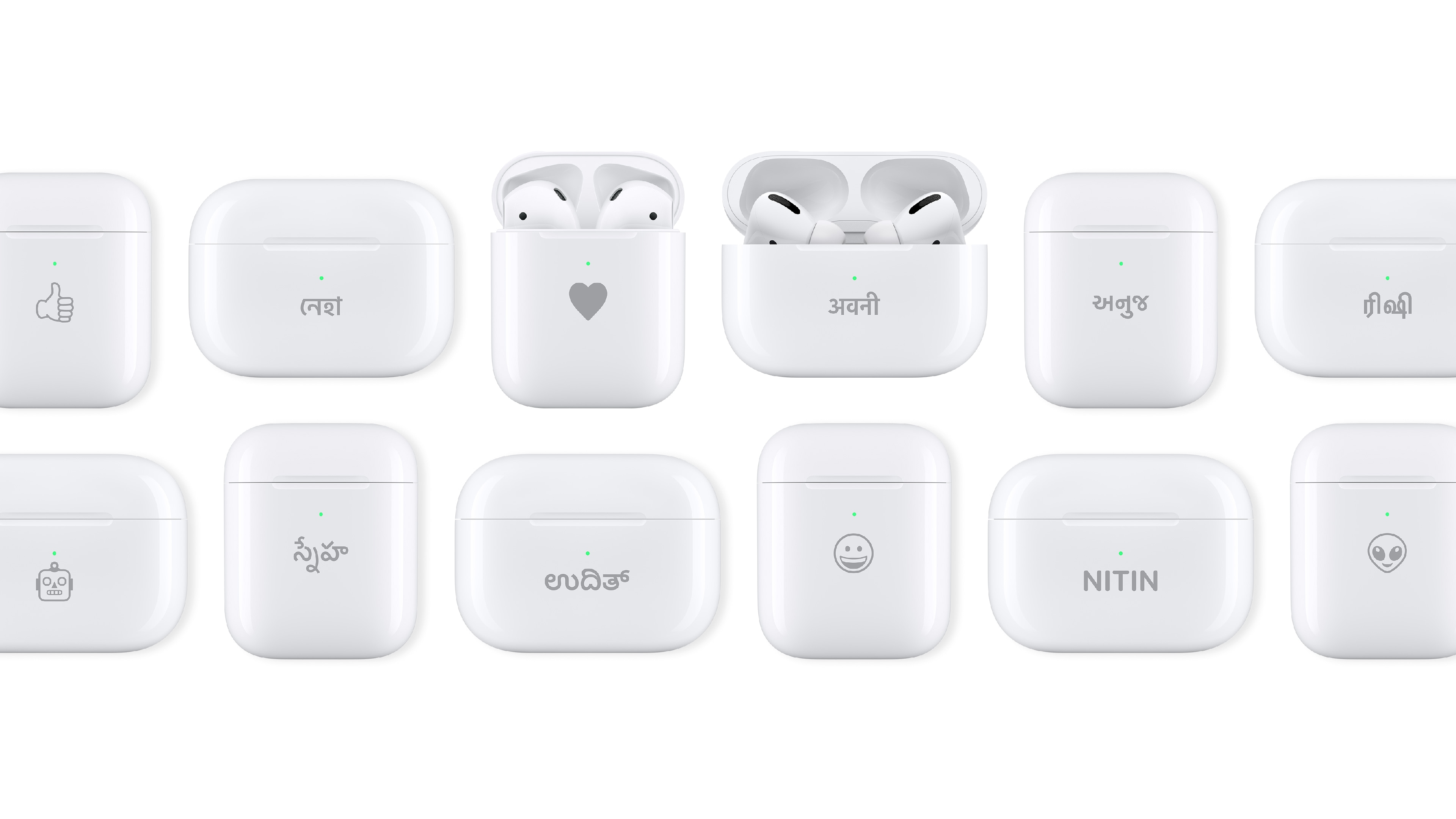 Apple offers personalised engraving on certain products.