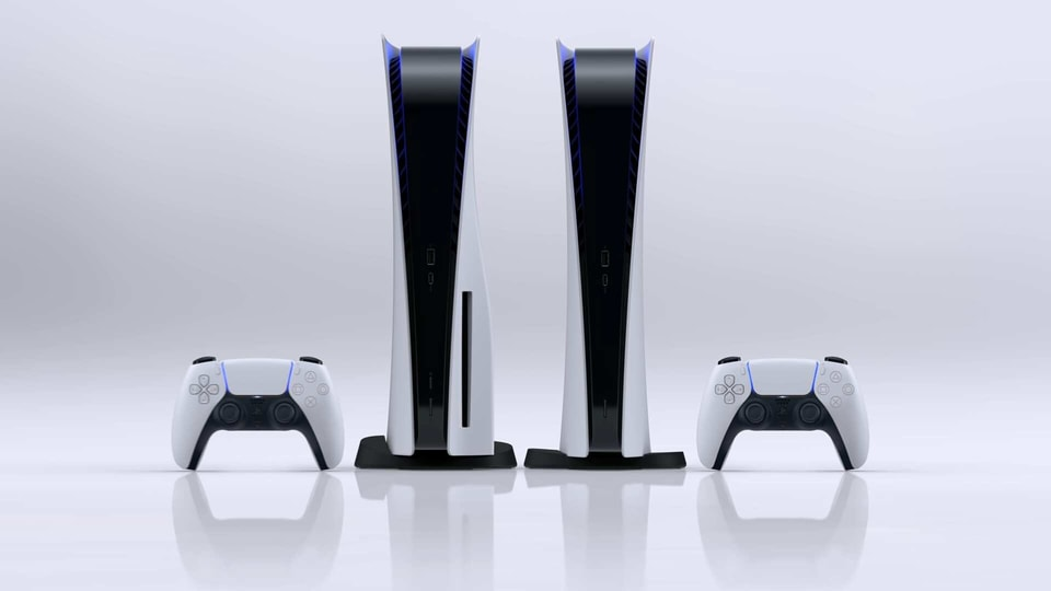 The new PlayStation 5 in its normal and Digital Edition avatars.