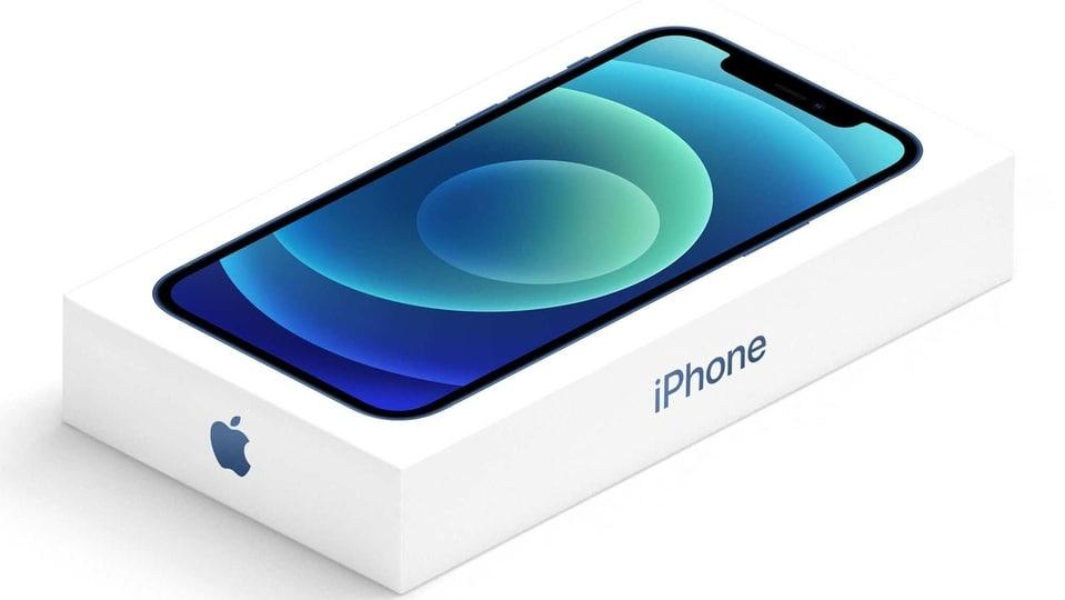 Apple iPhone 12 retail box.