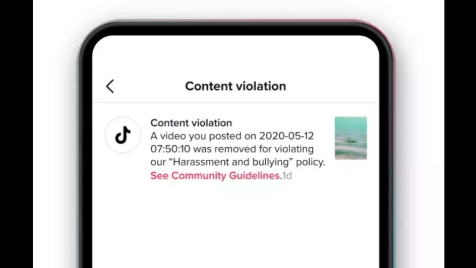 TikTok has announced that they will be explaining why the video was removed by stating the exact policy it has violated