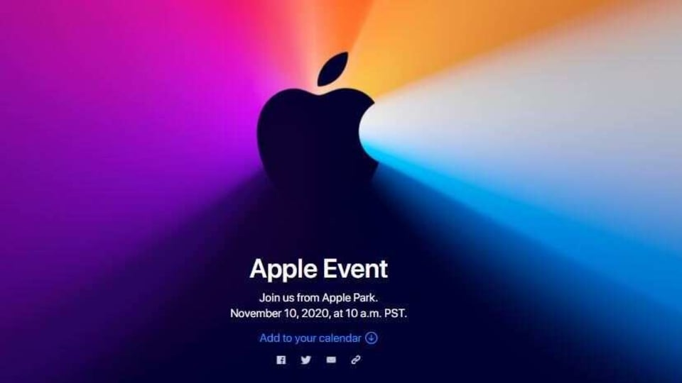 Apple to host 'One More Thing' event on November 10