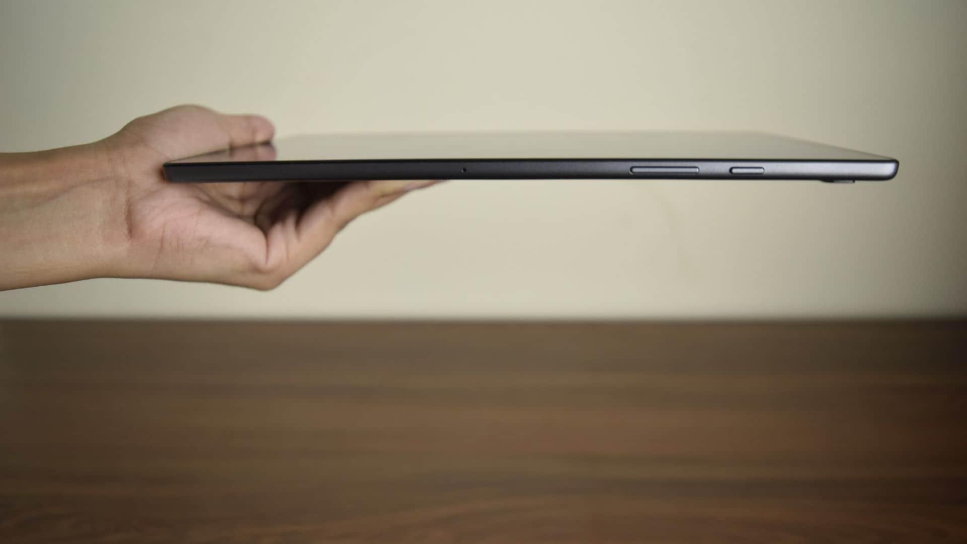 Samsung Galaxy Tab A7 is 7mm thick.