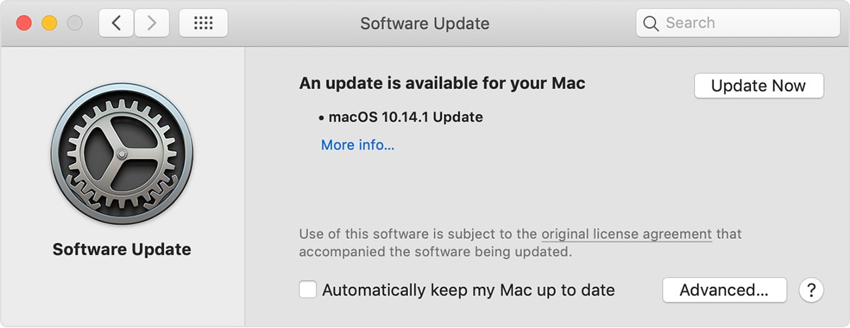 For MacOS Mojave and later users.