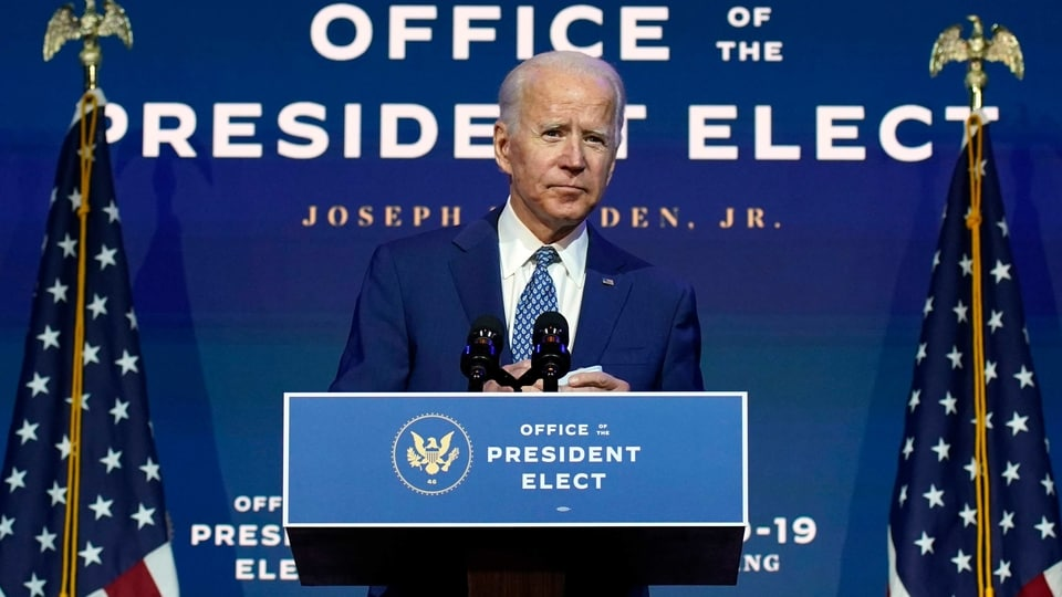 """FILE - In this Nov. 9, 2020, file photo President-elect Joe Biden speaks The Queen theater in Wilmington, Del. Biden says he wants to """"restore the soul of America."""" But first the president-elect will need to fix a broken Congress. (AP Photo/Carolyn Kaster, File)"""