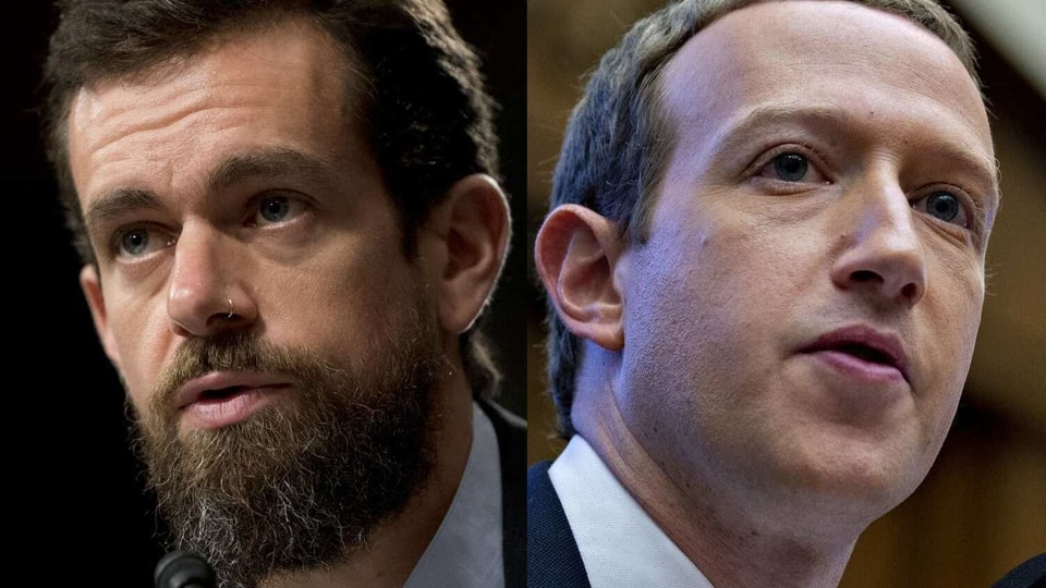 The Facebook and Twitter CEOs faced sharp questioning over their moves to curb a New York Post story about the international business dealings of Joe Biden's son.