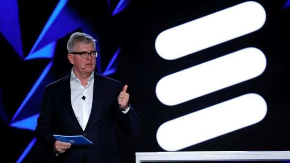 Ericsson Chief Executive Officer Borje Ekholm holds a news conference during the Mobile World Congress in Barcelona, Spain February 26, 2018. REUTERS/Yves Herman/File Photo
