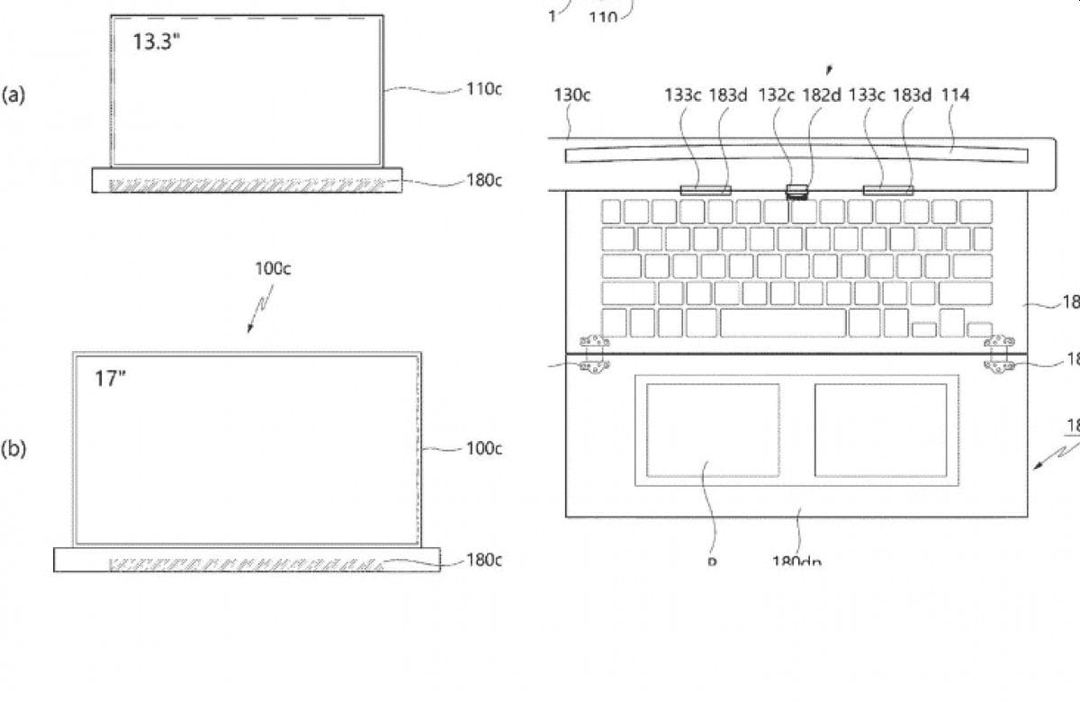 Keyboard and touchpad can also roll in