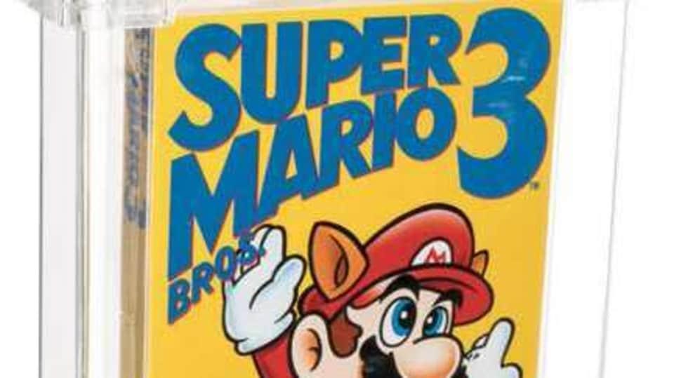A rare copy of Super Mario Bros