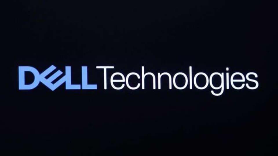 The logo for Dell Technologies Inc. is displayed on a screen on the floor of the New York Stock Exchange (NYSE) in New York, U.S., January 10, 2019. REUTERS/Brendan McDermid