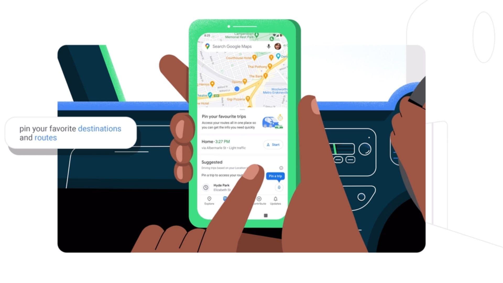 Go Tab in Google Maps