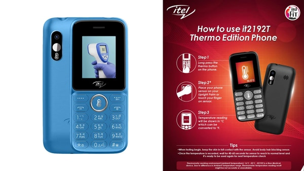The itel it2192T comes equipped with an in-built temperature sensor that is placed next to the camera on the back.