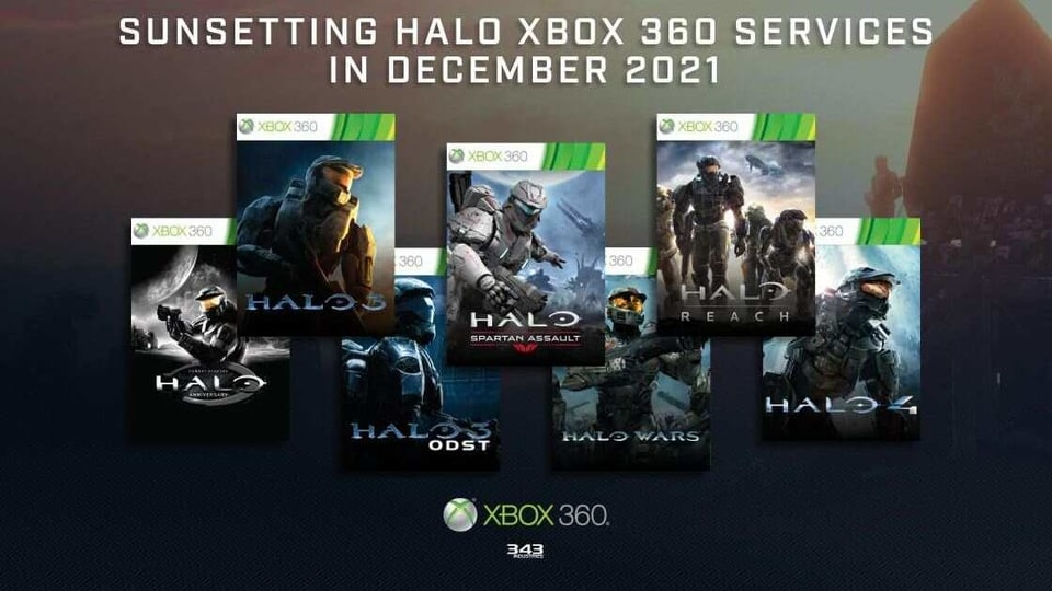 Halo Xbox 360 game services set to retire next year