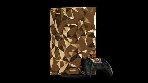 There is a solid gold PlayStation 5 Golden Rock Edition is made 18-carat gold and crocodile leather - HT Tech