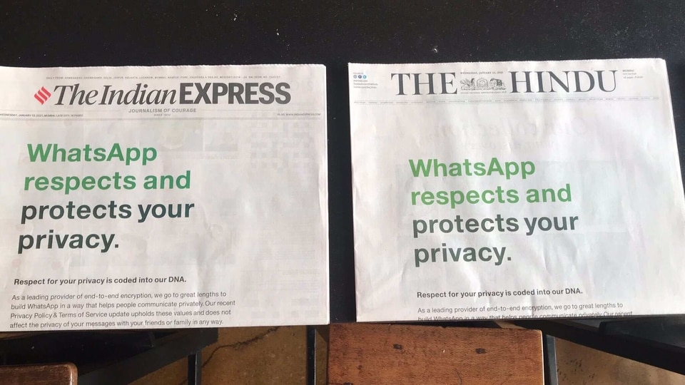 The irony of an online messaging platform resorting to using a print ad in newspapers has not escaped anyone and many people took to social media to call it out.