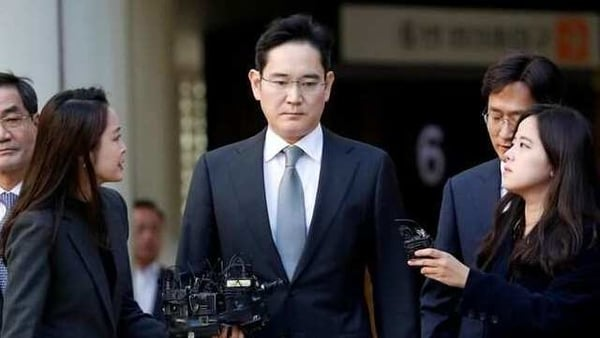 Samsung Electronics Vice Chairman, Jay Y. Lee, leaves the Seoul high court in Seoul in October 2019.