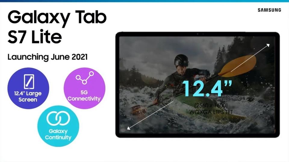 Samsung Galaxy Tab S7 Lite.