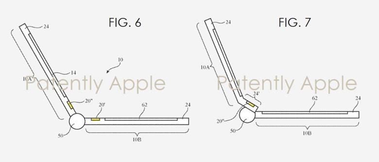 El diseño de la barra táctil en una de las patentes.