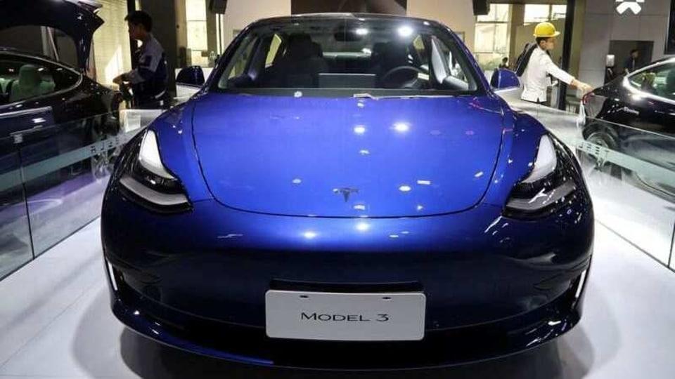 A China-made Tesla Model 3 electric vehicle is seen ahead of the Guangzhou auto show in Guangzhou, Guangdong province, China November 21, 2019.