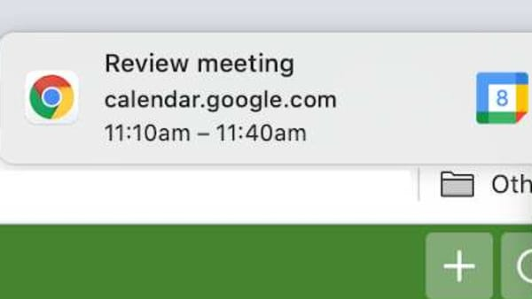 Snoozing Google Calendar notifications on your desktop