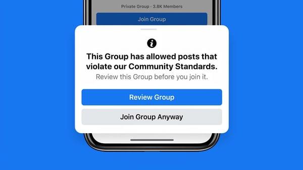 Facebooks punishment Dangerous groups violate its Standards