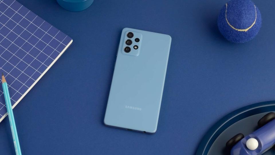 Samsung's Galaxy A72 smartphone.