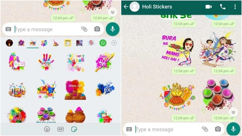 Holi 2021 WhatsApp Stickers.