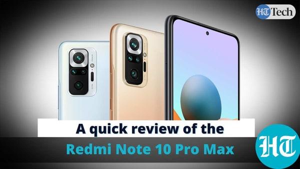 The Redmi Note 10 Pro Max