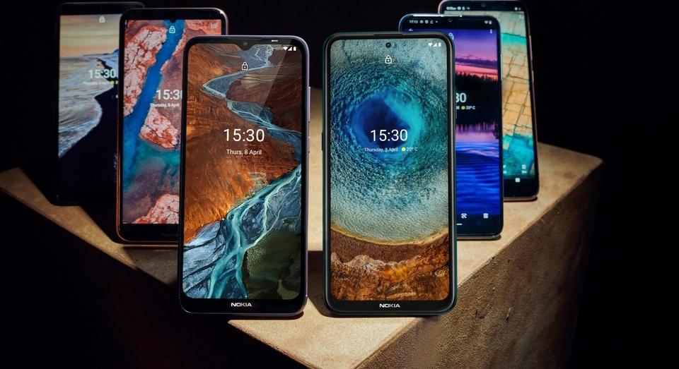 Nokia C series, G series, X series smartphones.