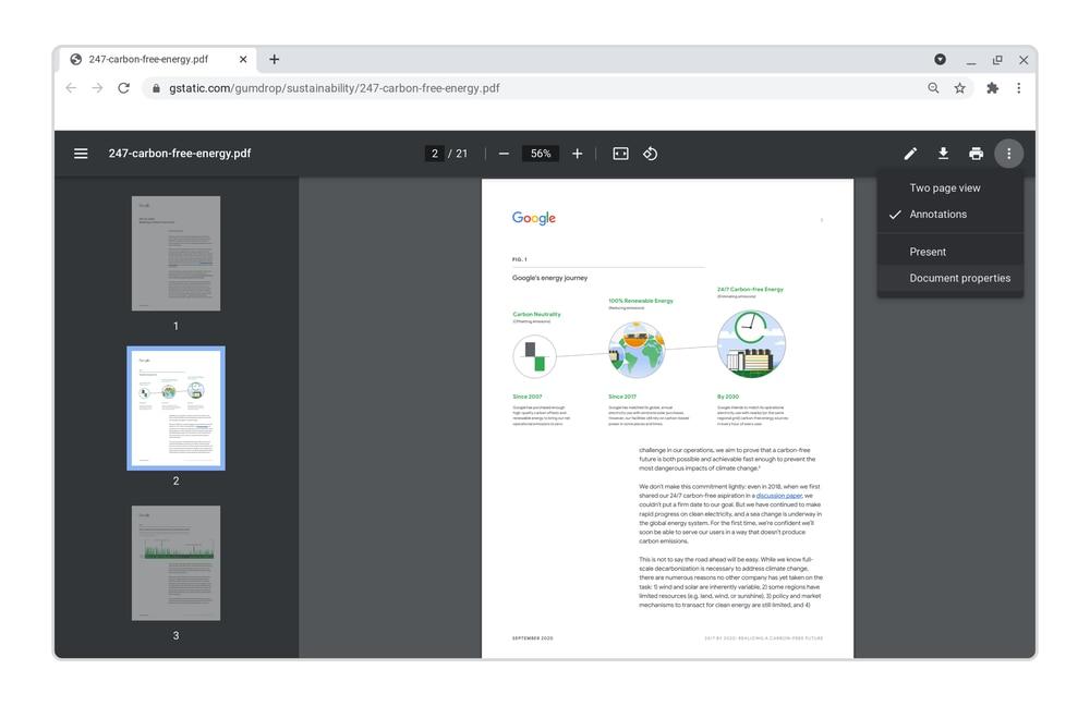 Google Chrome PDFs.