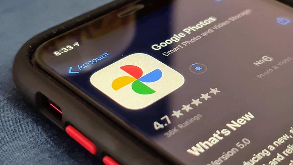 Google Photos App Store listing.