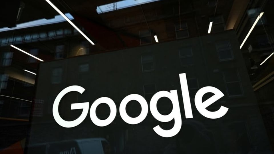 FILE PHOTO: The Google logo is seen on on the company's European headquarters in Dublin, Ireland, February 27, 2021. REUTERS/Clodagh Kilcoyne