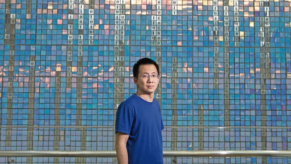 Zhang Yiming, founder of ByteDance, which owns TikTok.