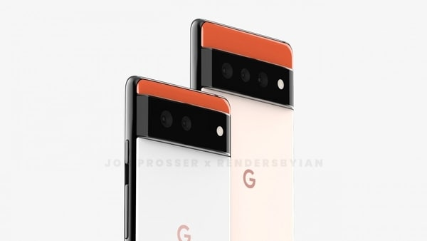Renders of the Google Pixel 6 and the Pixel 6 Pro.