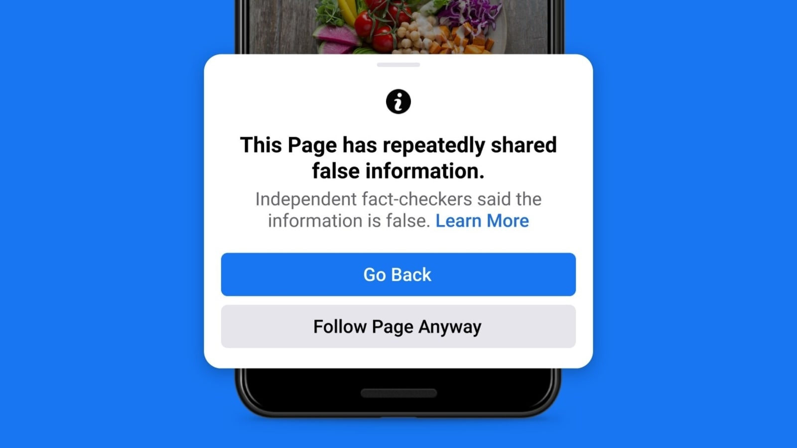 Facebook says it will punish individual accounts caught spreading misinformation
