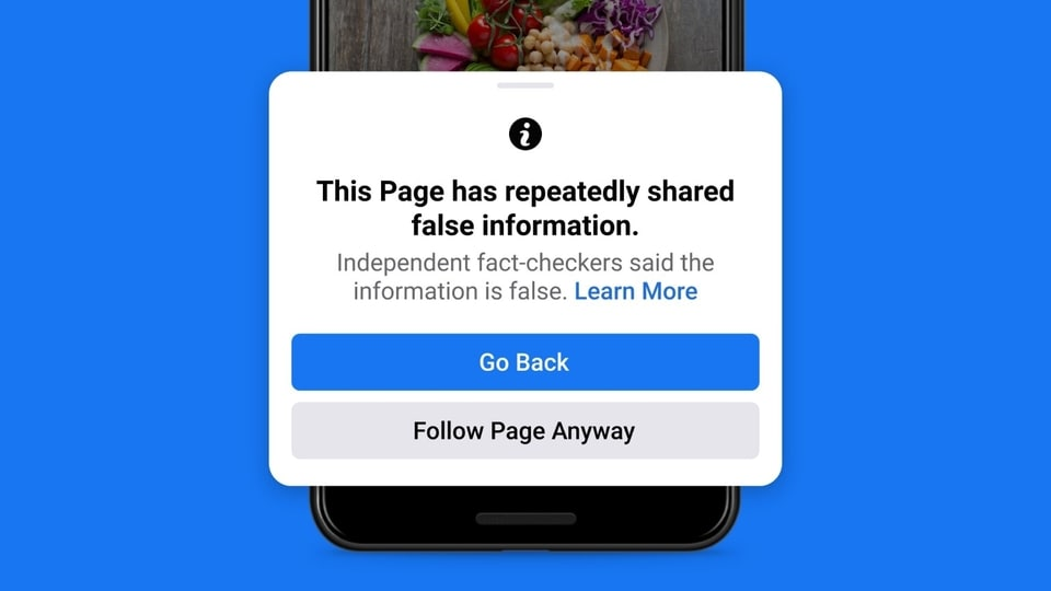 Facebook will also block the spread of misinformation spread through pages by displaying a warning to new followers.