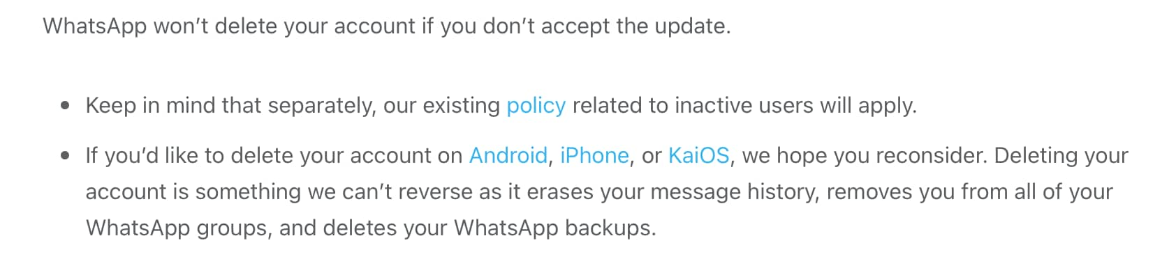 Don't worry, you don't HAVE to accept the new privacy policy.