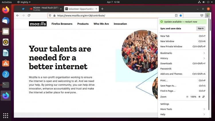 Here's what the new Proton UI resdesign looks like on Ubuntu.
