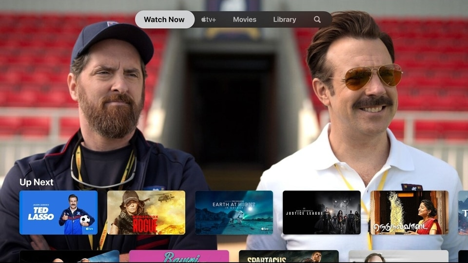 A screenshot of the main screen and interface on the Apple TV app.