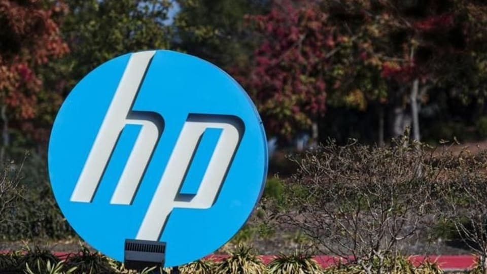 Signage is displayed outside HP Inc. headquarters in Palo Alto, California, US, on Thursday, Nov 7, 2019.