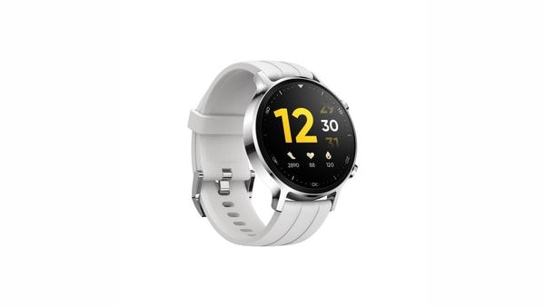 You can pick up silicone or vegan leather straps in other colours to mix and match with the silver Realme Watch S.