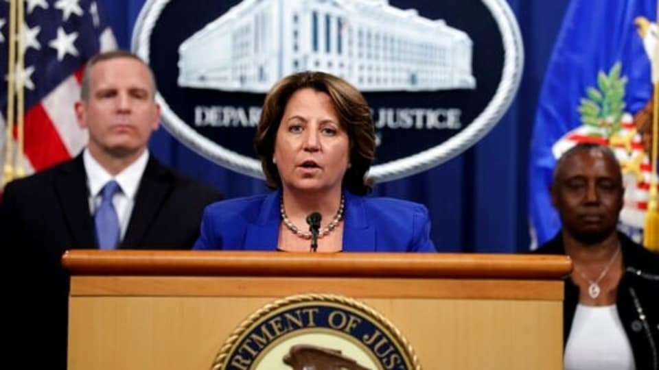 Deputy Attorney General Lisa Monaco announces the recovery of millions of dollars worth of cryptocurrency from the Colonial Pipeline Co. ransomware attacks as she speaks during a news conference with FBI Deputy Director Paul Abbate and acting U.S. Attorney for the Northern District of California Stephanie Hinds at the Justice Department in Washington, Monday, June 7, 2021.