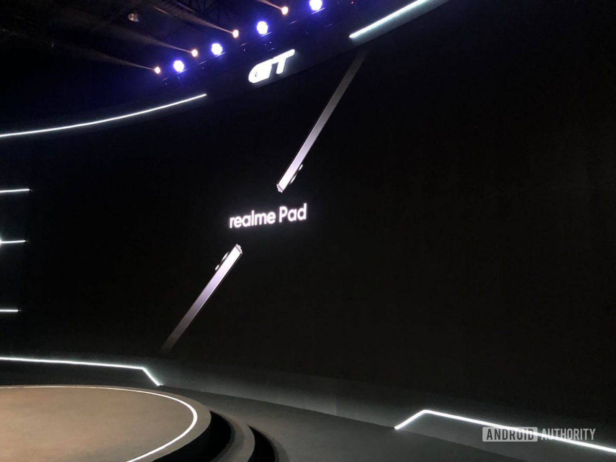 The Realme Pad filtered the image