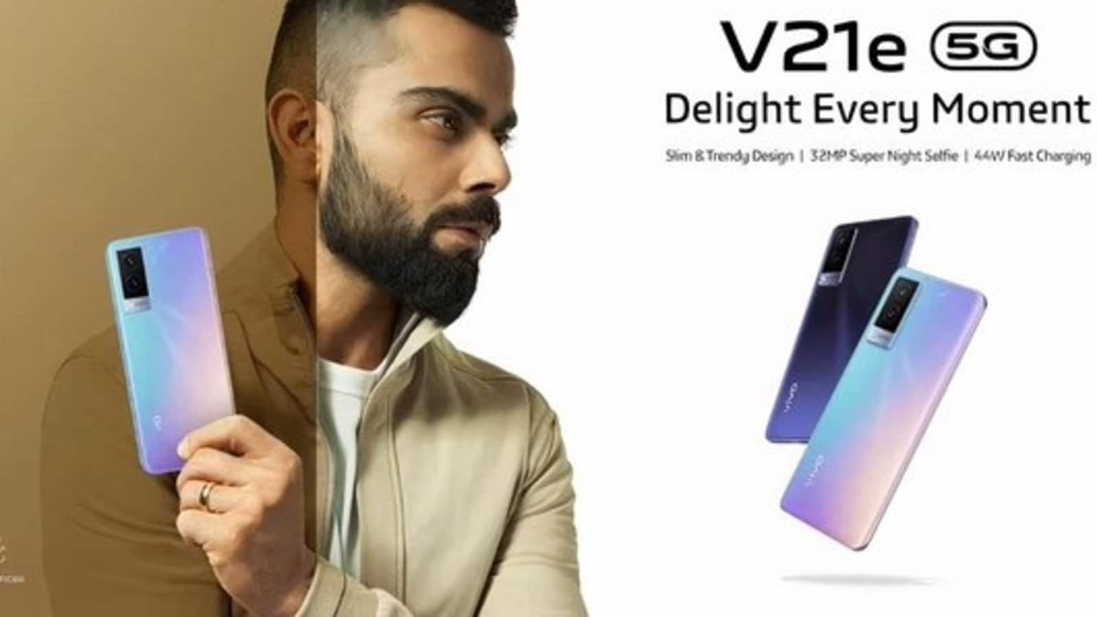 The Vivo V21e poster with Virat Kohli has been leaked online!  Just see what's to come soon